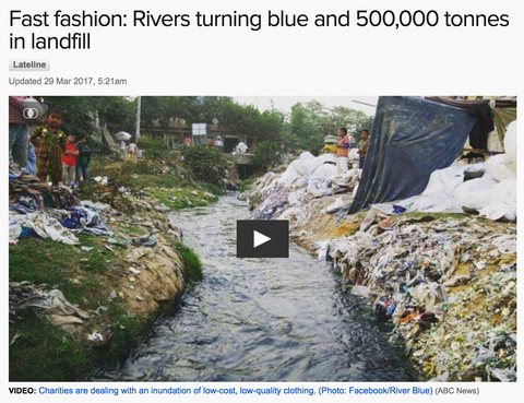 Fast fashion: Rivers turning blue and 500,000 tonnes in landfill