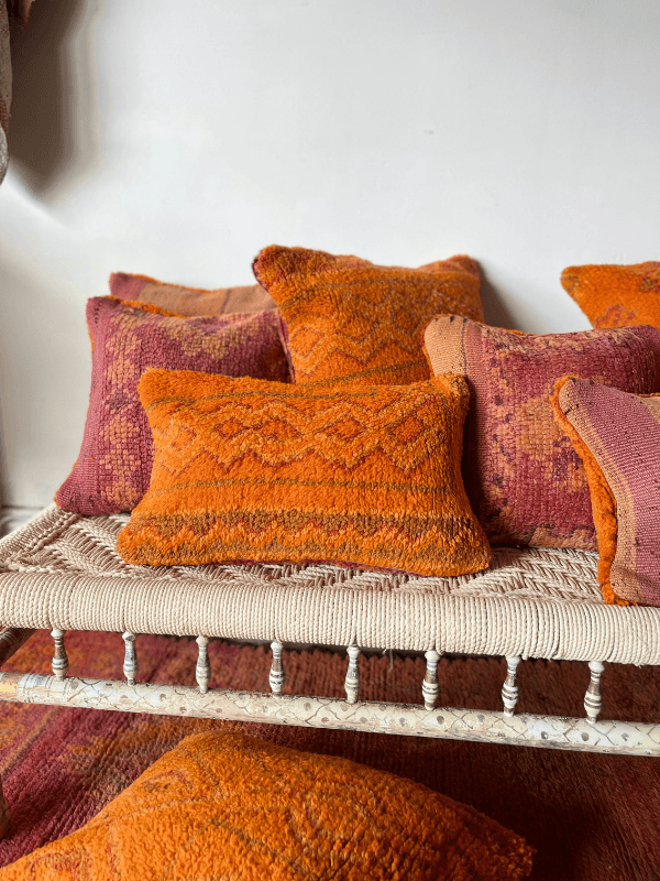 40x40 pillow - Vintage Moroccan rug cushion