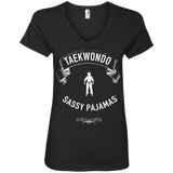 Taekwondo - Sassy Pajamas / Women's V-Neck Tee (Light lettering)
