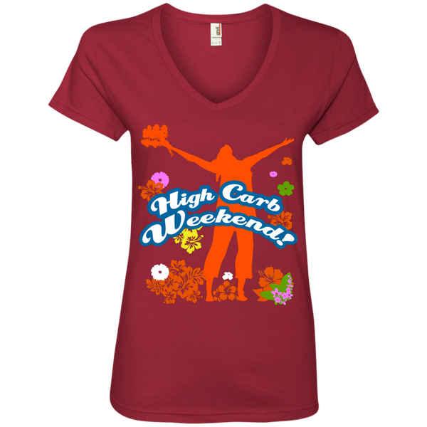 High Carb Weekend / Women's V-Neck Tee