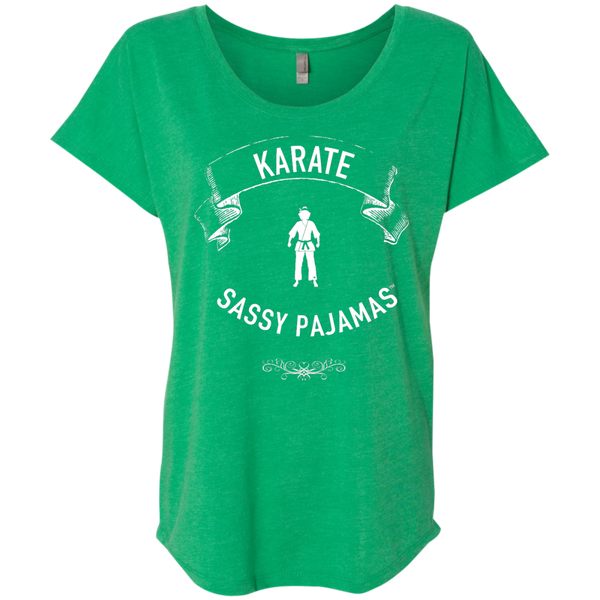 Karate - Sassy Pajamas / Women's Dolman Sleeve Tee (Light lettering)