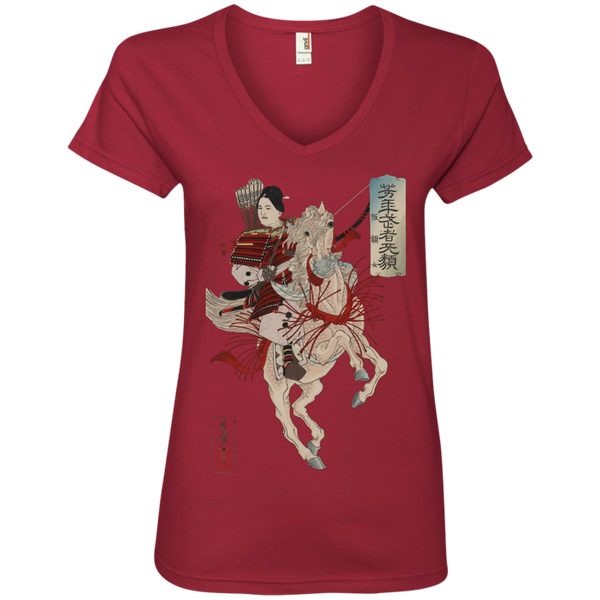 Female Samurai Warrior / Women's V-Neck Tee