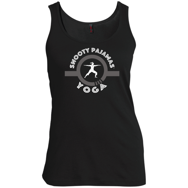 Snooty Pajamas - Yoga / Women's Scoop Neck Tank Top (Light lettering)