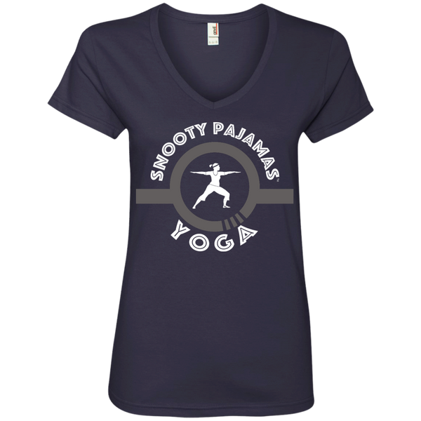 Snooty Pajamas - Yoga / Women's V-Neck Tee (Light lettering)