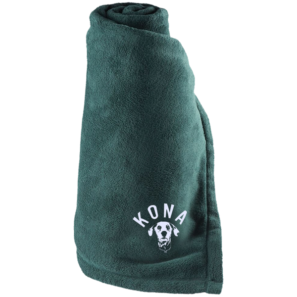 Kona Large Embroidered Fleece Blanket