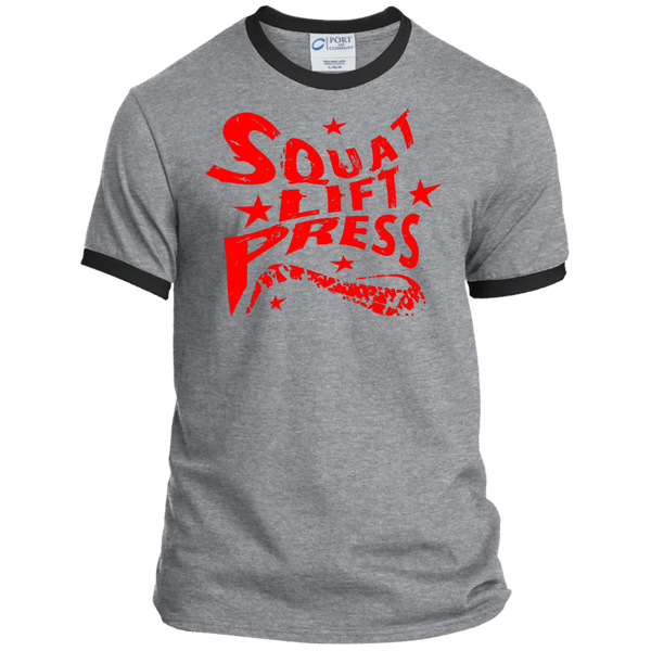 Squat Lift Press / Men's Ringer Tee