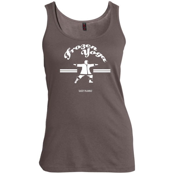 Frozen Yoga - Sassy Pajamas / Women's Scoop Neck Tank (Light lettering)