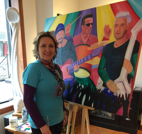 Annette Gaffney Painting Demo at Art Square Gallery Dec 2016