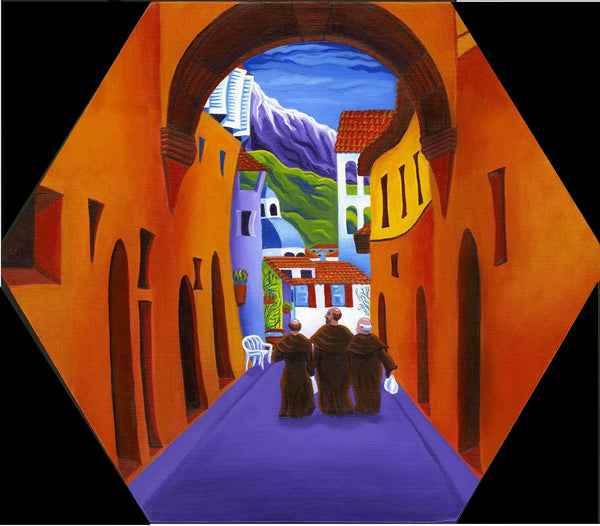 "ORIGINAL SOLD ""Afternoon In Assisi"" Original Acrylic-on-Canvas"