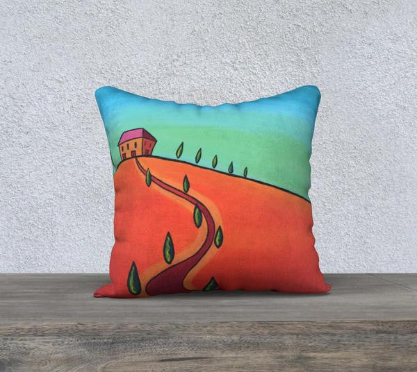 Tiny Tuscan Orange 18 x 18 Cushion Cover