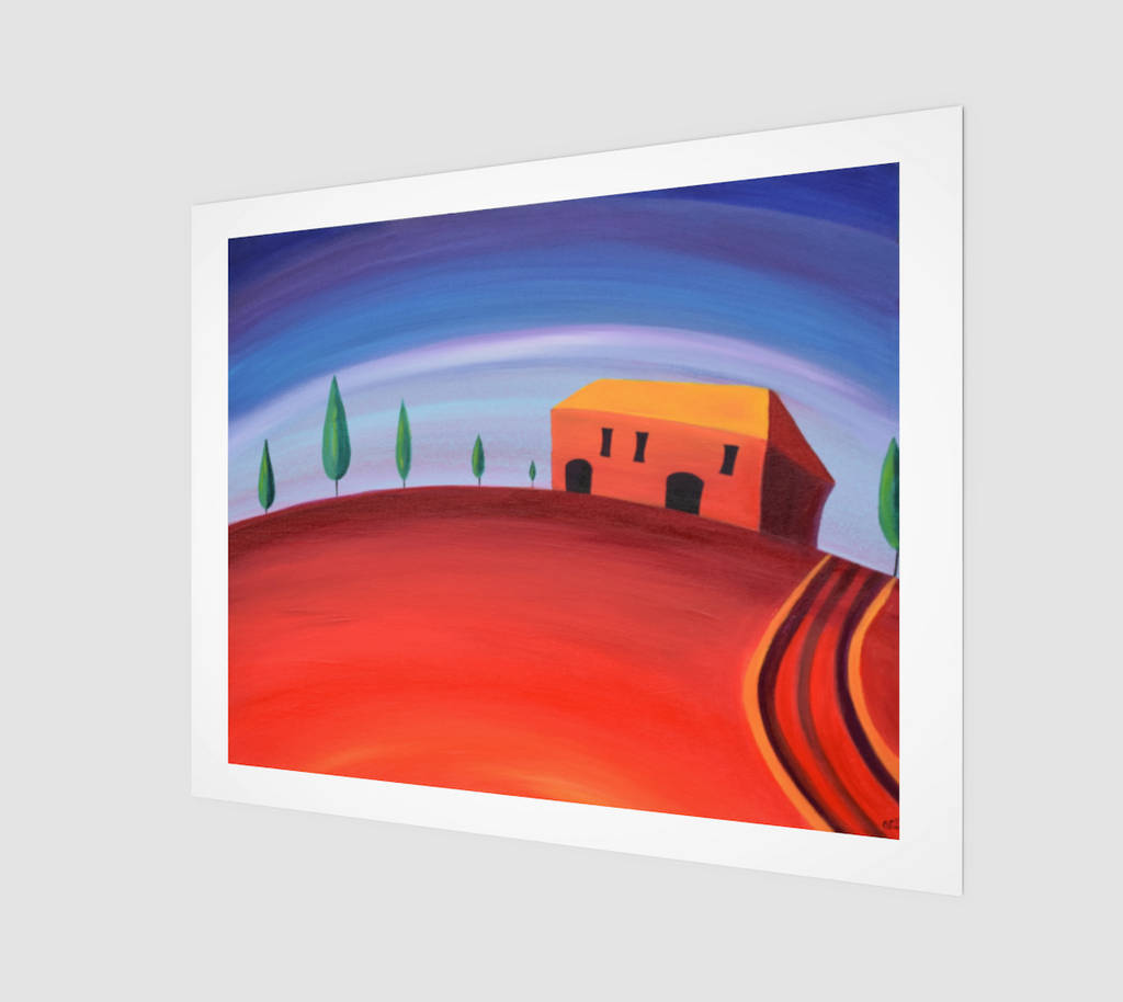 Tuscan Red Art Print