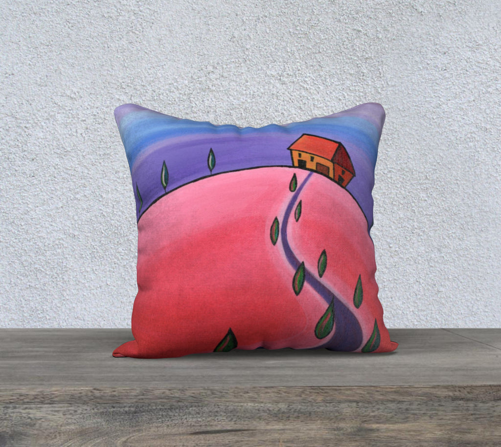 Tiny Tuscan Purple Cushion Cover