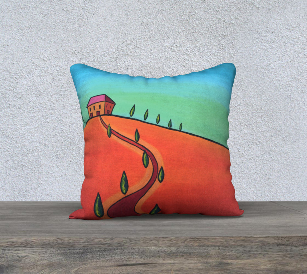 Tiny Tuscan Orange Pillow