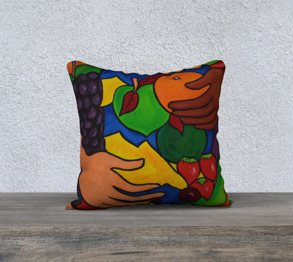 NEW! Fruit Grab Cushion Cover
