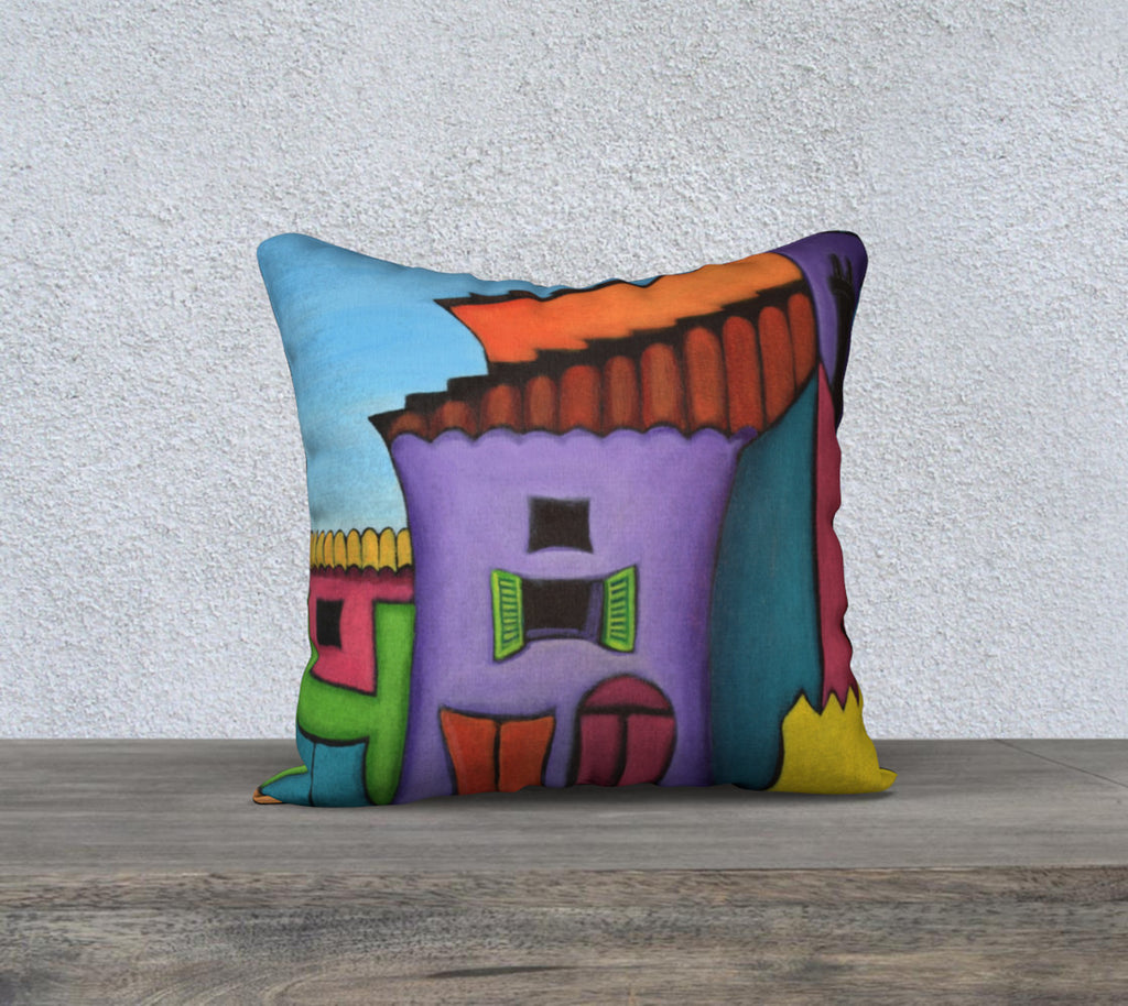 NEW! Whimsical French Village Cushion Cover