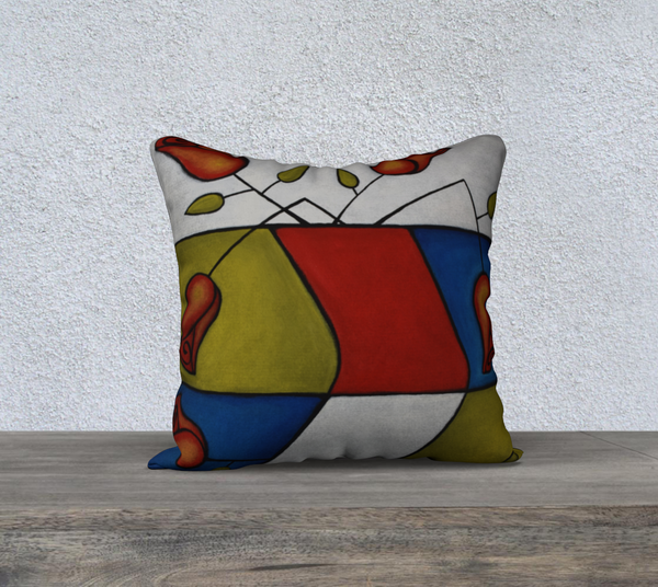 NEW! Graphic Roses Cushion Cover
