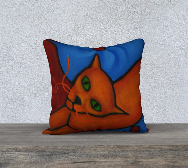 Curly Cat Part 1 Cushion Cover