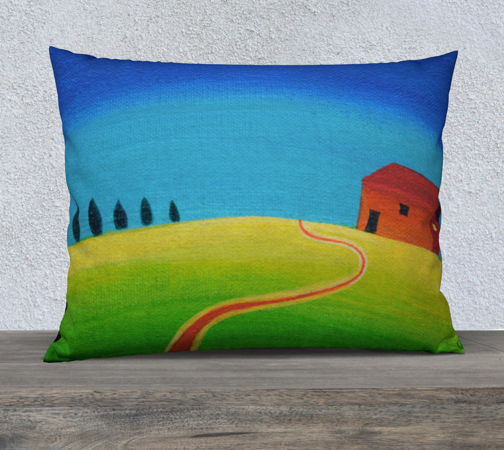 """Tiny Tuscan Blue"" Throw Pillow Case"