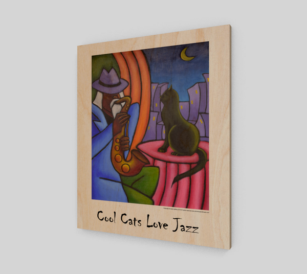 Cool Cats Love Jazz Poster