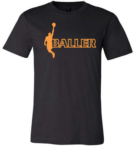 Baller Short Sleeve and Long Sleeve Tee Orange