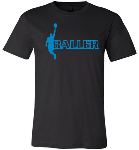 Baller Short Sleeve and Long Sleeve Tee Blue