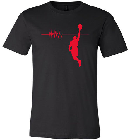 Baller Heartbeat Short Sleeve and Long Sleeve Tee and Hoodie Red