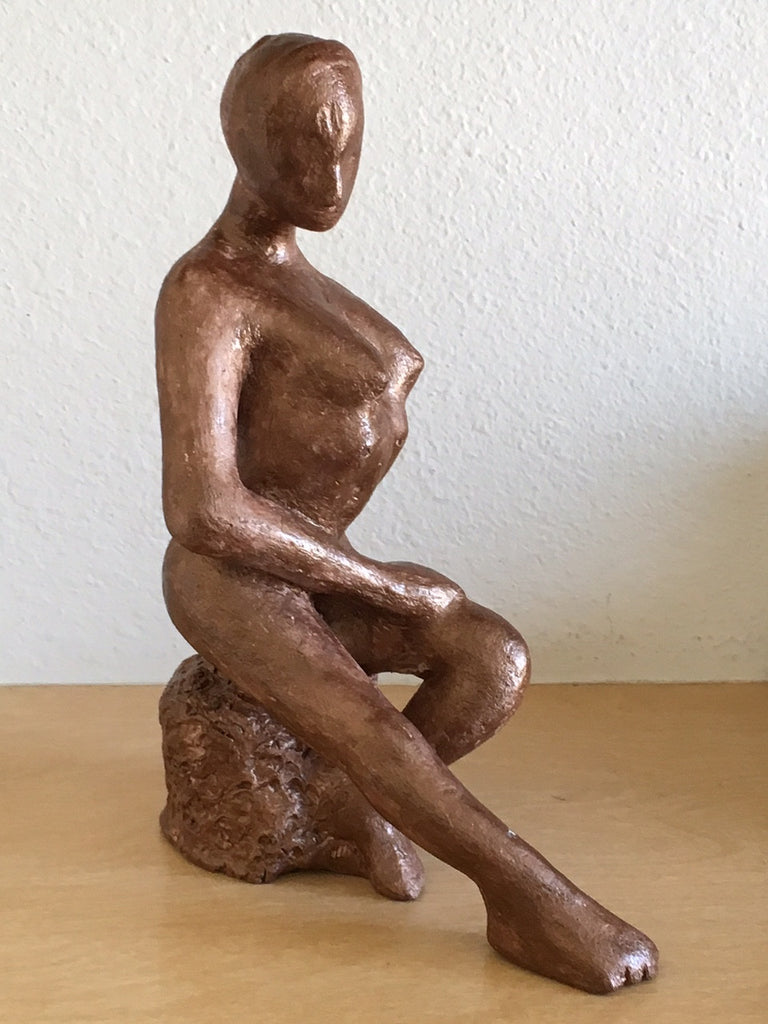 Sculpture Figurine Clay Statue Art Figurative Artwork Handmade GIFT