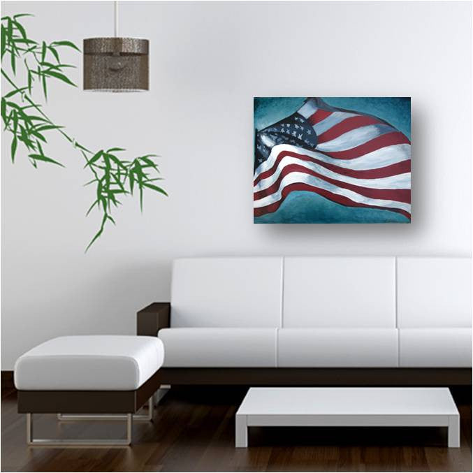 American flag wood wall art old glory artwork holiday GIFT