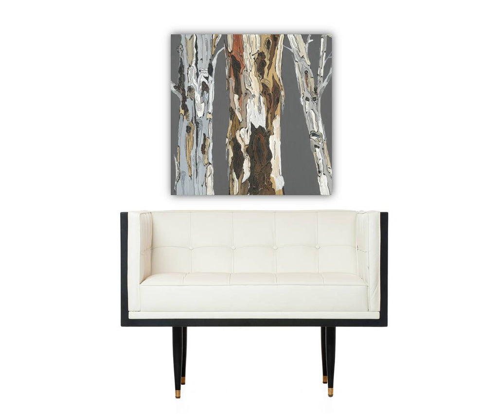 Gray wood wall art tree artwork GIFT transitional bedroom decor