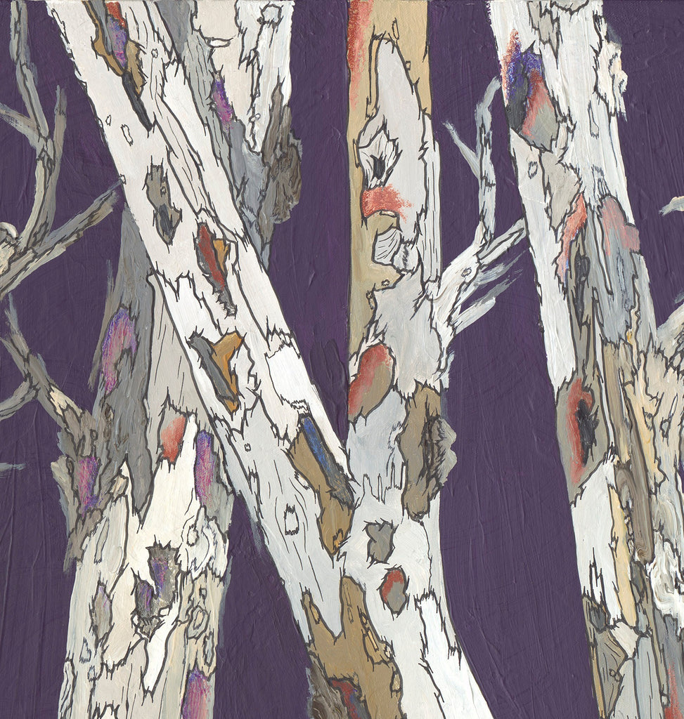 original painting of tree branches, original painting of tree trunks, original purple painting, painting by iranian artist, iranian artist, purple and white original painting, original painting of trees, large wall art in purple, purple bedroom wall art, office wall art, masculine wall art, masculine artwork, masculine wall decor, bedroom wall art, dining room wall art, living room original painting, office original painting, original purple and white painting