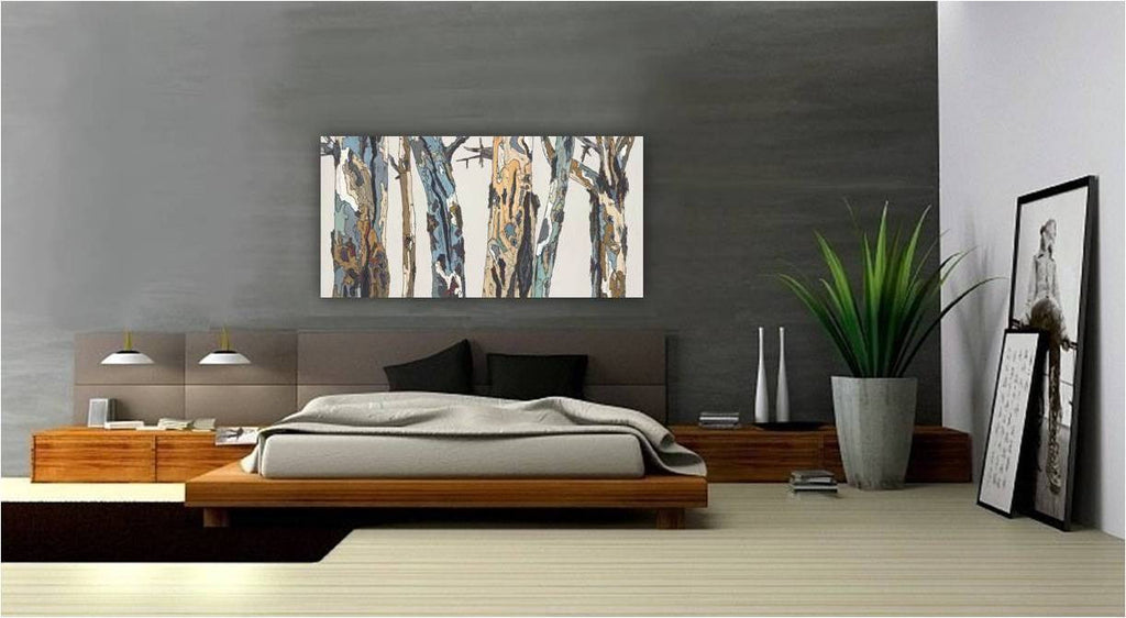oversized bedroom art modern