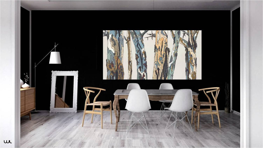 dining room wall art white