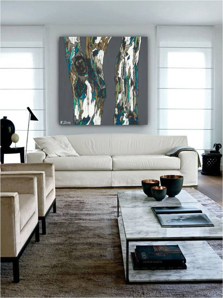 living room design modern artwork