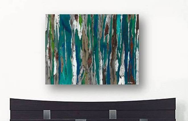 Extra Large Wall Art Oversize Blue Abstract Canvas Print Shoa Gallery