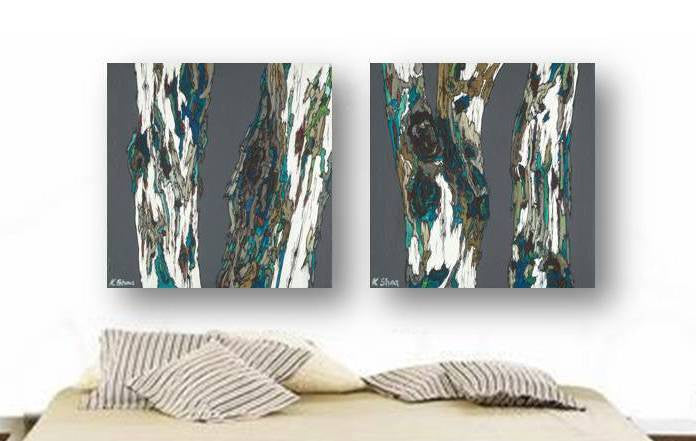 Masculine extra LARGE diptych wall art huge print set oversized tree trunks artwork modern rustic  sc 1 st  Shoa Gallery & Masculine extra LARGE diptych wall art print set trees: Shoa Gallery