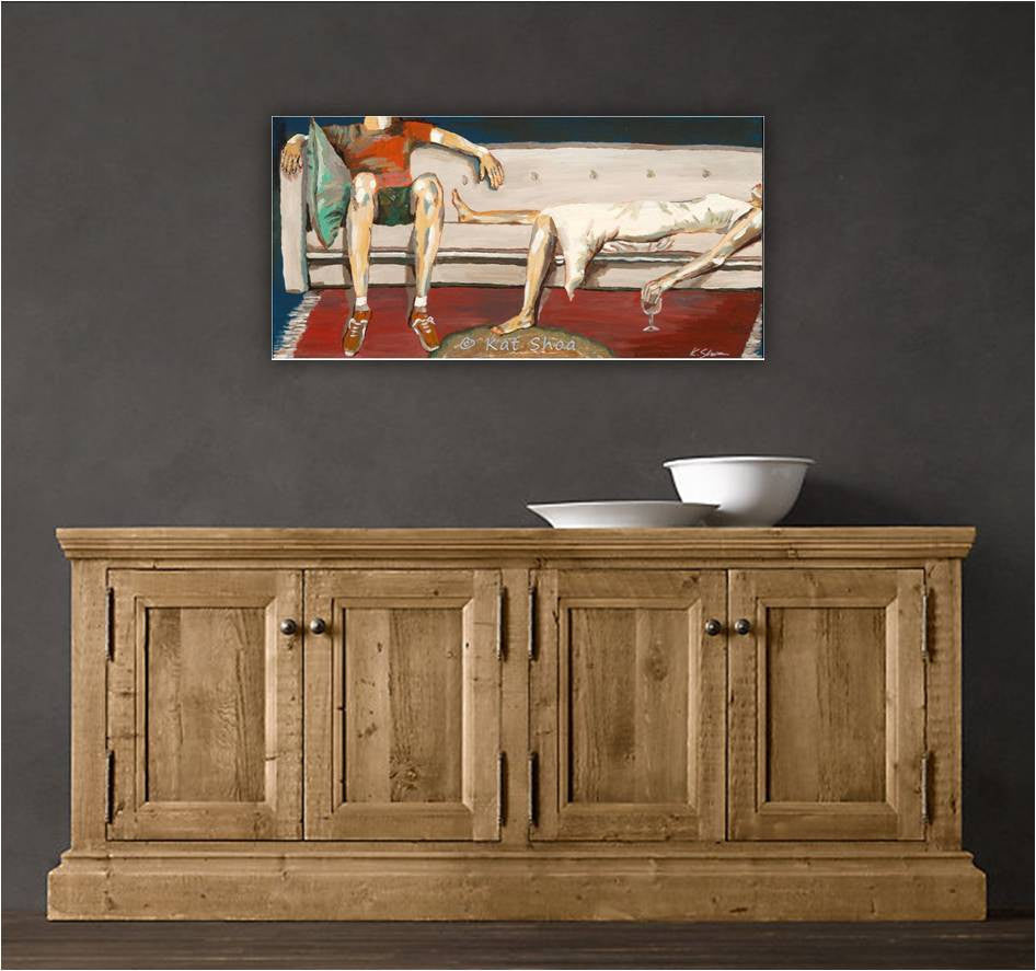 Wine tasting artwork canvas art print fireplace bedroom home decor living room dining room