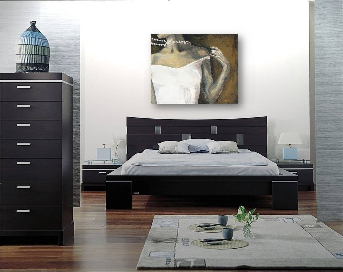 Sexy Parisian extra LARGE wall art canvas print figurative artwork modern home decor