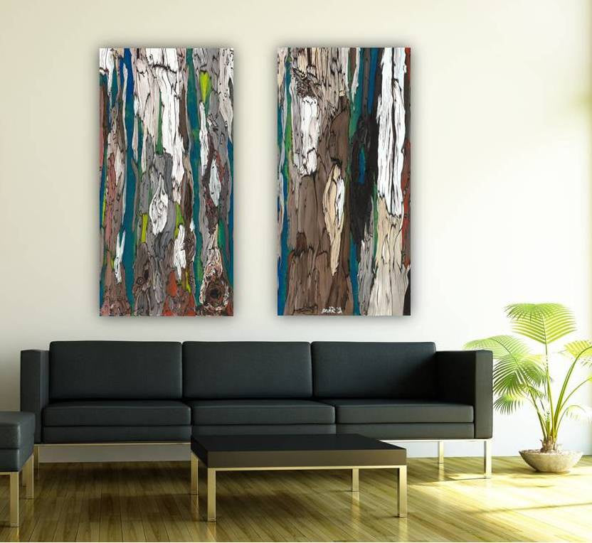 Huge abstract diptych wall art living room office decor canvas set extra large print blue teal