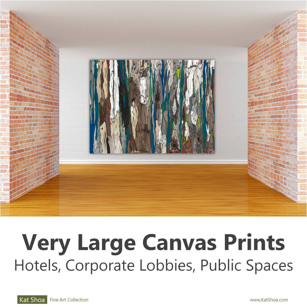 extra large wall art oversized artwork office blue brown white canvas corporate huge artwork