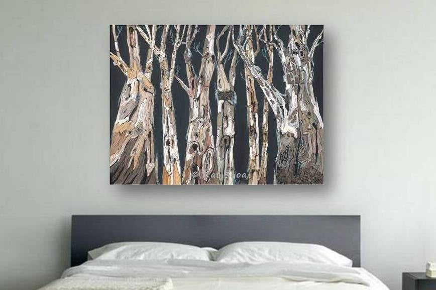 bedroom art oversized canvas print