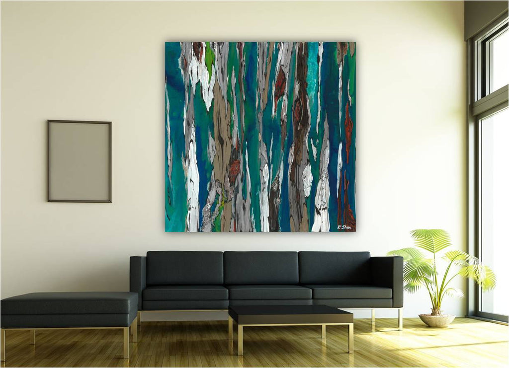huge canvas art blue abstract