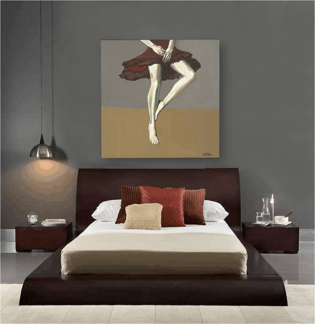 Figurative sexy woman modern artwork canvas print large wall art bedroom decor artwork