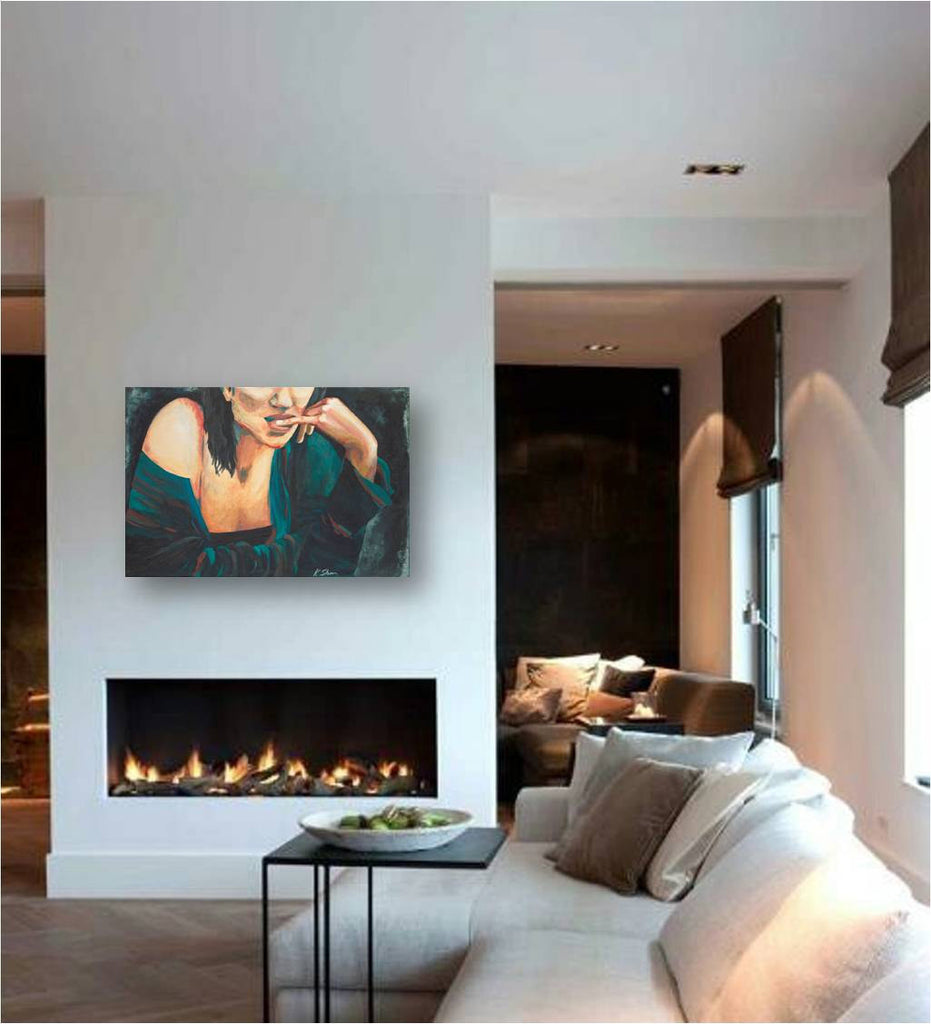 modern artwork living room decor