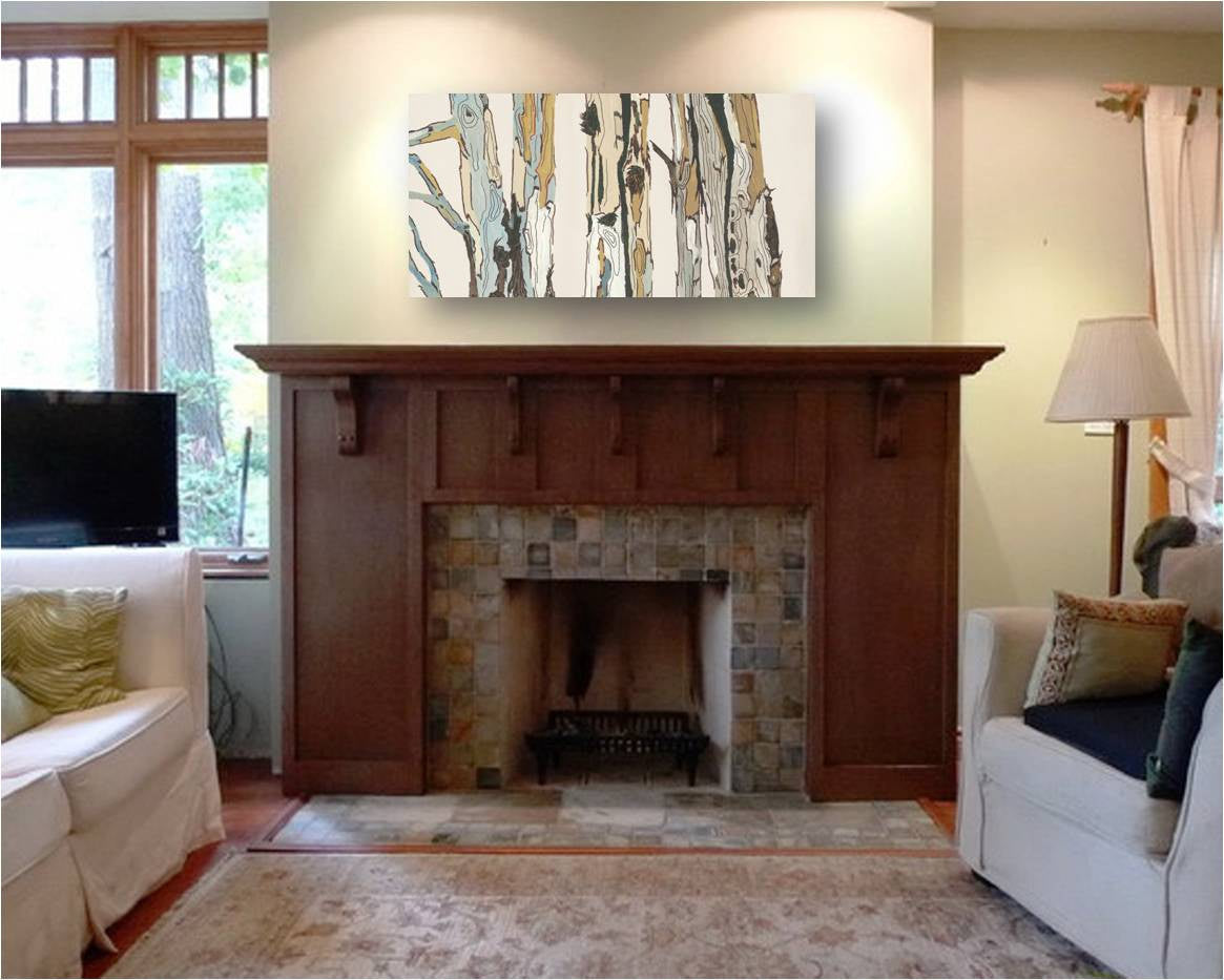 fireplace decor white wall art