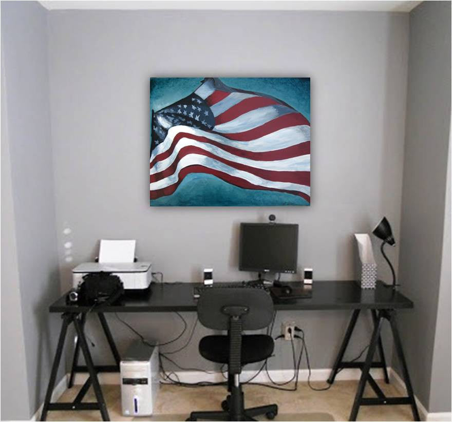 office decor american flag patriotic decor