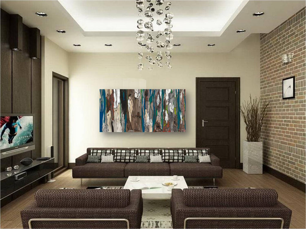 oversized artwork living room