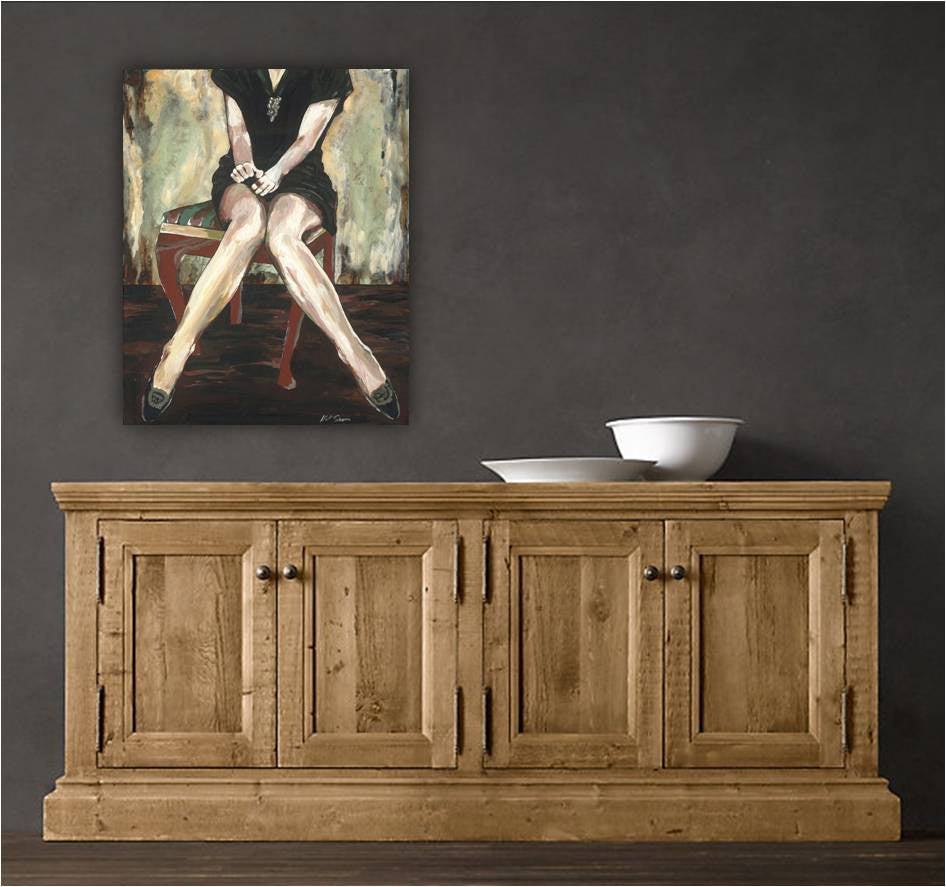 original artwork over credenza, sexy original artwork, sexy woman painting, original sexy painting, unique gift for her, one of a kind gift for women, bedroom wall art, sexy bedroom artwork, unique bedroom decor, entryway artwork, original living room artwork, sexy burlesque painting, burlesque original art, iranian artist, iranian artwork
