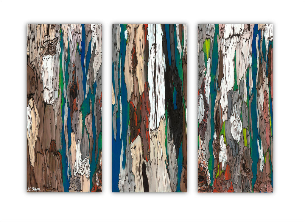 extra large abstract wall art trees