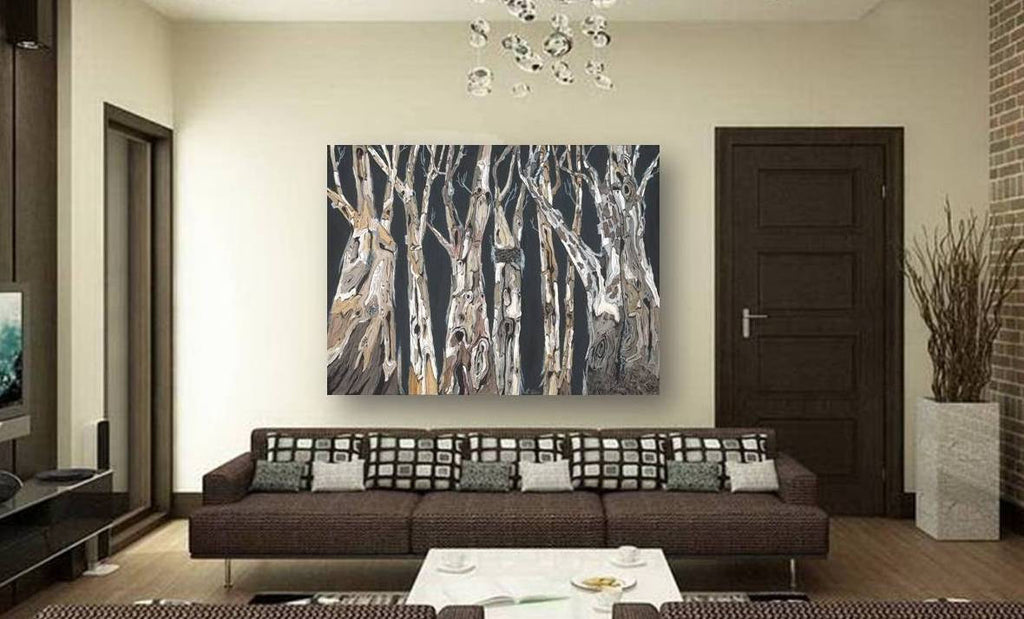 living room art wall decor black brown