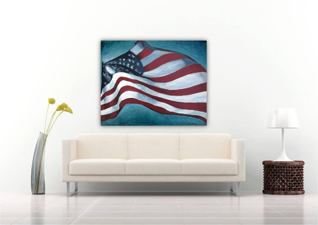 american flag wall art living room
